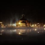 Andrychów, park, koscioł