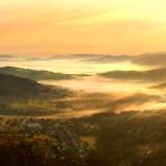 Kamesznica wschod, widok, mgla, gory