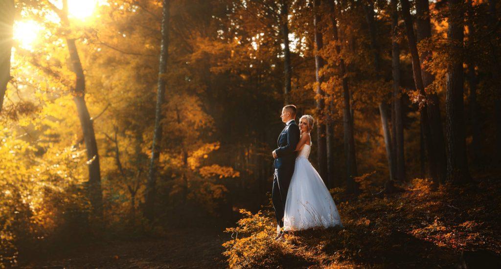 Fotografia ślubna jesienna sesja